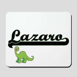 Lazaro Classic Name Design with Dinosaur Mousepad