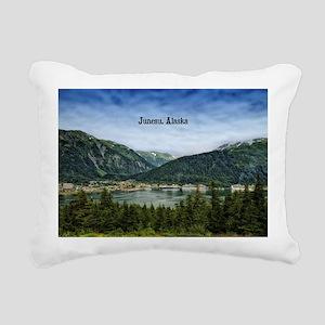 Juneau, Alaska landscape Rectangular Canvas Pillow