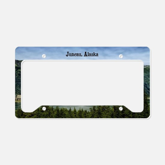 Juneau, Alaska landscape phot License Plate Holder