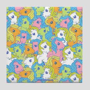 MLP Retro Pattern Tile Coaster