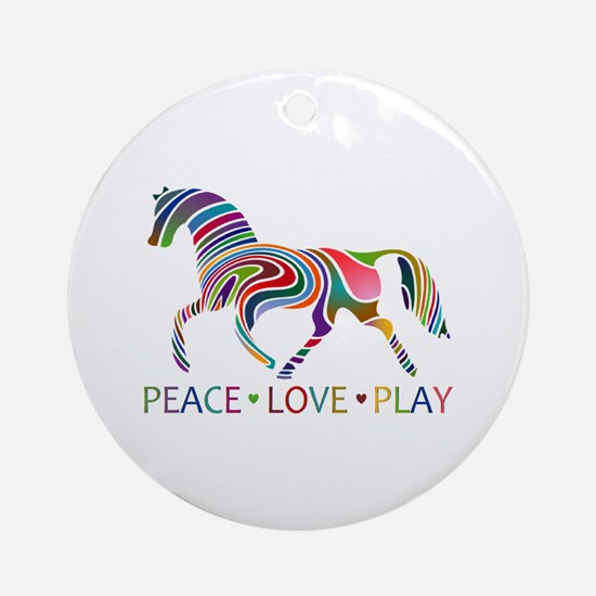 Cute I love horses Round Ornament