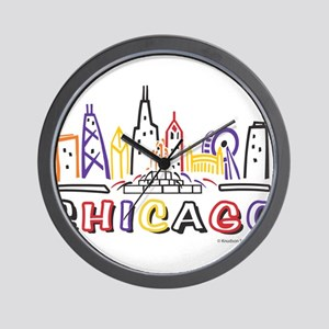 Chicago Fun Skyline Wall Clock