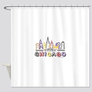 Chicago Fun Skyline Shower Curtain