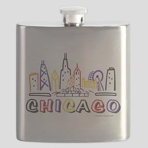 Chicago Fun Skyline Flask