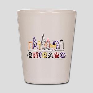 Chicago Fun Skyline Shot Glass