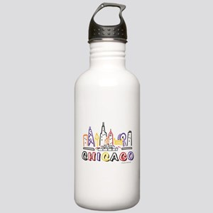 Chicago Fun Skyline Water Bottle