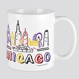 Chicago Fun Skyline Mugs