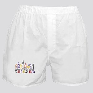 Chicago Fun Skyline Boxer Shorts