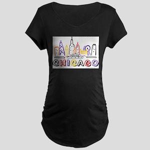 Chicago Fun Skyline Maternity T-Shirt