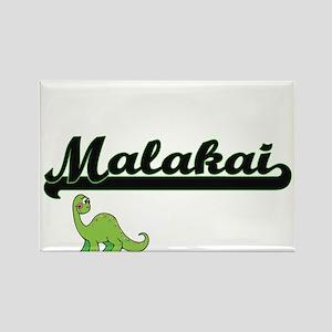 Malakai Classic Name Design with Dinosaur Magnets