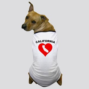 California Heart Cutout Dog T-Shirt