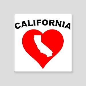 California Heart Cutout Sticker
