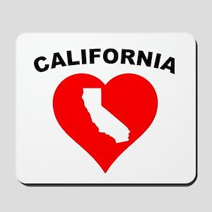 California Heart Cutout Mousepad