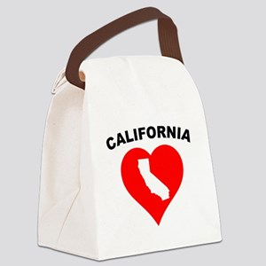 California Heart Cutout Canvas Lunch Bag