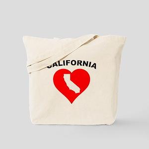 California Heart Cutout Tote Bag