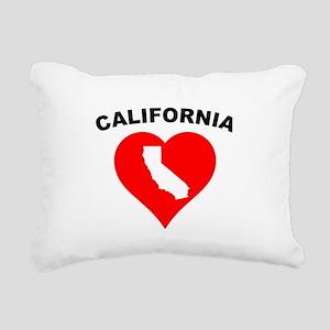 California Heart Cutout Rectangular Canvas Pillow