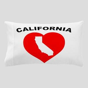 California Heart Cutout Pillow Case