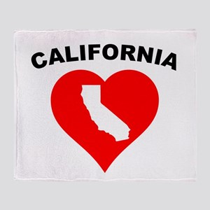 California Heart Cutout Throw Blanket