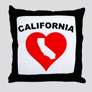 California Heart Cutout Throw Pillow
