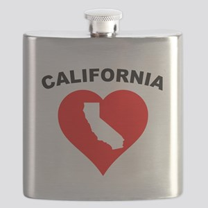 California Heart Cutout Flask