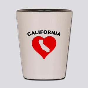 California Heart Cutout Shot Glass