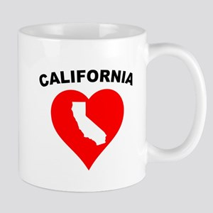 California Heart Cutout Mugs