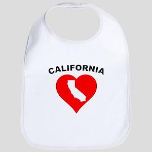 California Heart Cutout Bib