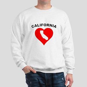 California Heart Cutout Sweatshirt