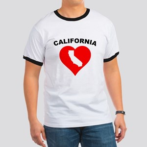 California Heart Cutout T-Shirt