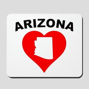Arizona Heart Cutout Mousepad