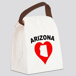 Arizona Heart Cutout Canvas Lunch Bag