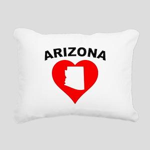 Arizona Heart Cutout Rectangular Canvas Pillow