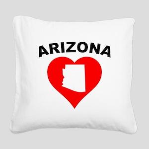 Arizona Heart Cutout Square Canvas Pillow