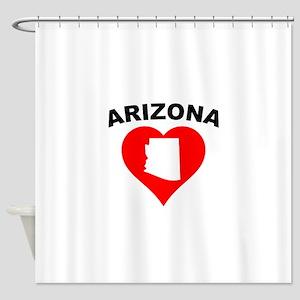 Arizona Heart Cutout Shower Curtain