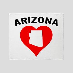 Arizona Heart Cutout Throw Blanket