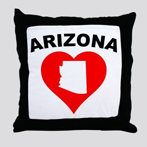 Arizona Heart Cutout Throw Pillow
