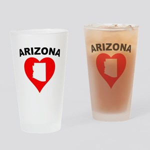 Arizona Heart Cutout Drinking Glass
