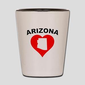 Arizona Heart Cutout Shot Glass