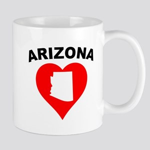 Arizona Heart Cutout Mugs