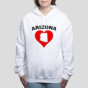 Arizona Heart Cutout Women's Hooded Sweatshirt