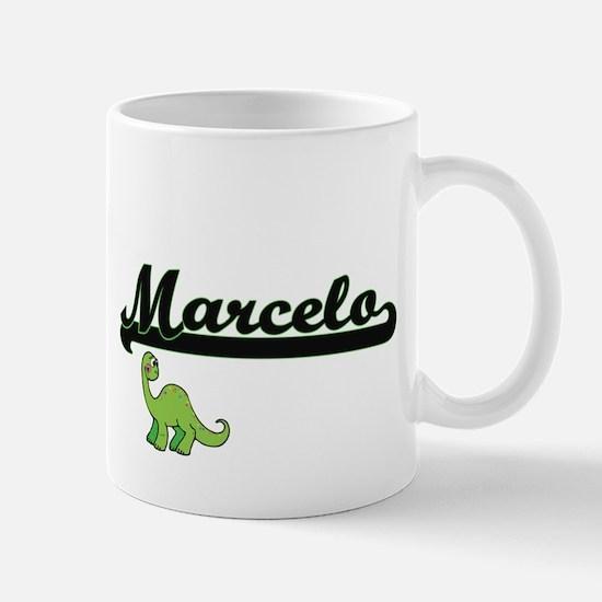 Marcelo Classic Name Design with Dinosaur Mugs