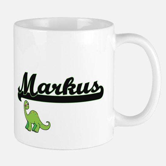 Markus Classic Name Design with Dinosaur Mugs