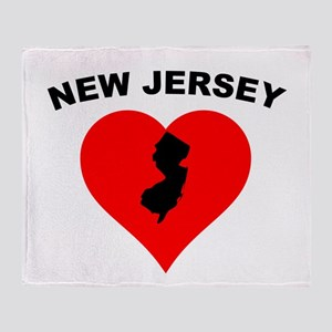 New Jersey Heart Throw Blanket