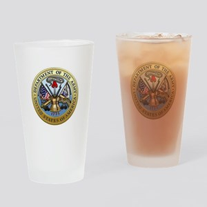 GOVT SEAL - DEPARTMENT OF THE ARMY Drinking Glass