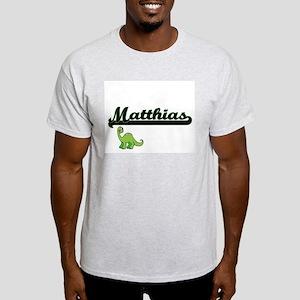 Matthias Classic Name Design with Dinosaur T-Shirt