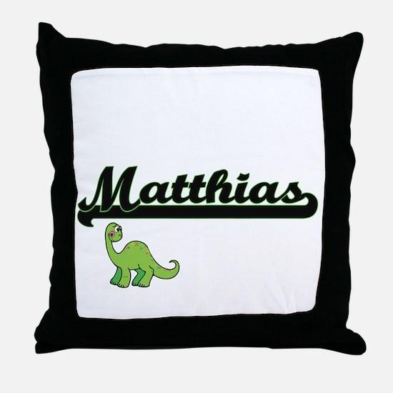 Matthias Classic Name Design with Din Throw Pillow