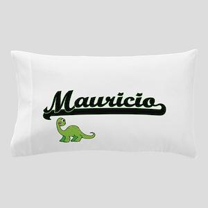 Mauricio Classic Name Design with Dino Pillow Case