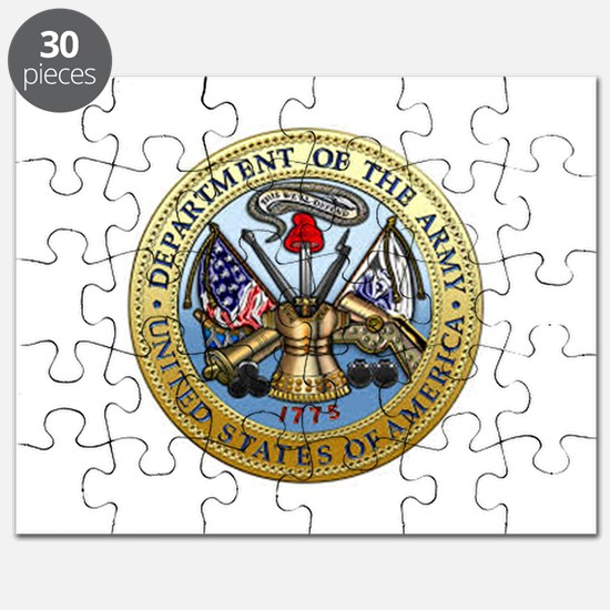 GOVT SEAL - DEPARTMENT OF THE ARMY Puzzle
