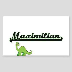 Maximilian Classic Name Design with Dinosa Sticker