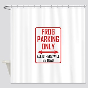 Frog Parking All Others Toad Shower Curtain